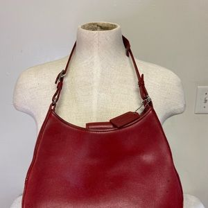 Coach Bags - Classic Red Coach Glove Leather Shoulder Bag